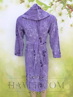 Халат Корал - Лилави цветчета
