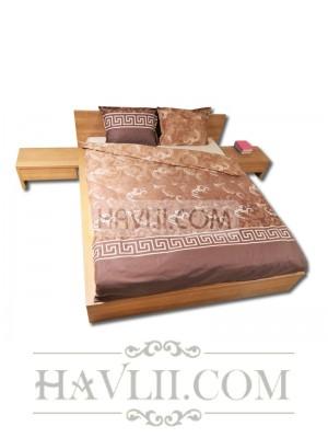 Спален комплект единичен - Меандър браун