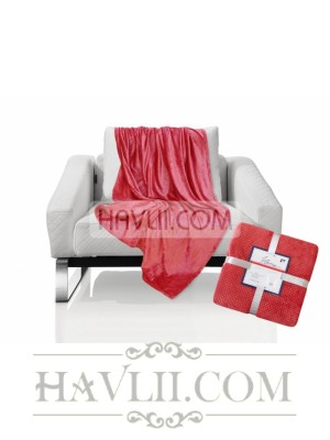 150/200 Одеяло - Диамант-тъмно червен