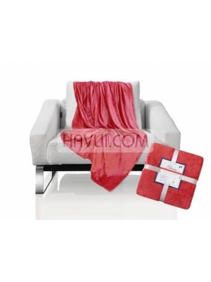 180/220 Одеяло - Диамант-тъмно червен