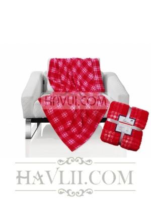 150/200 Одеяло - Каре-червено