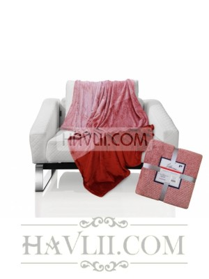 150/200 Одеяло - Омбре-червен