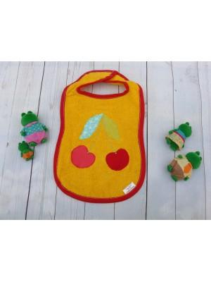 Бебешки лигавник с апликация – Оранжев