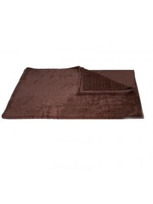 150/200 Едноцветно одеяло осморки кафяво