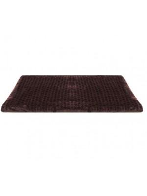 180/220 Едноцветно одеяло на релефни точки - Кафяво